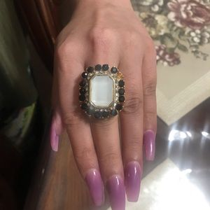 Beautiful black and white Ring